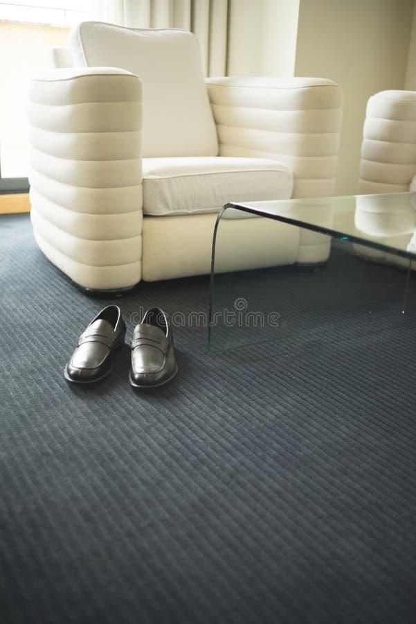 Camera da letto della serie di albergo di lusso immagini stock