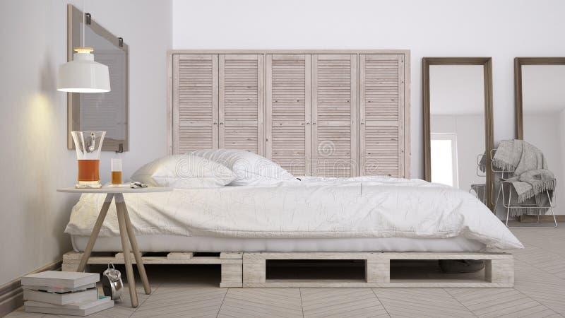 Camera da letto di diy progettazione elegante di eco - Testiera letto pallet ...