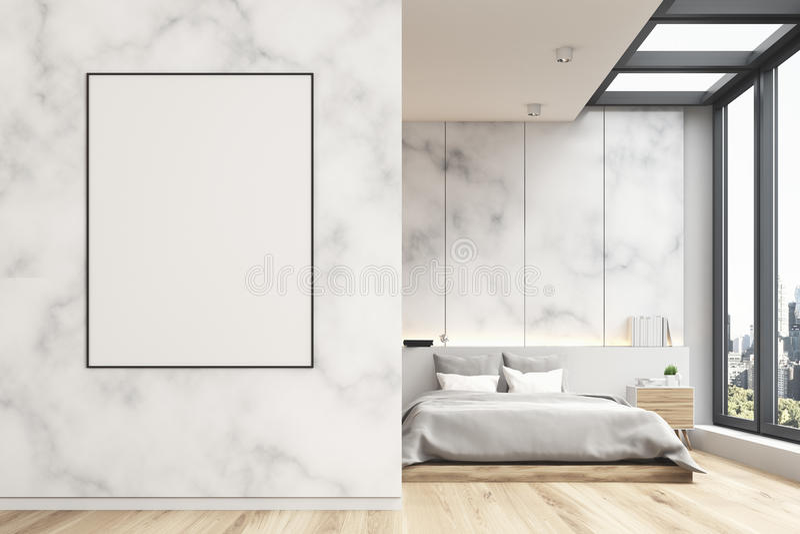 Camera da letto di marmo con il manifesto, anteriore royalty illustrazione gratis