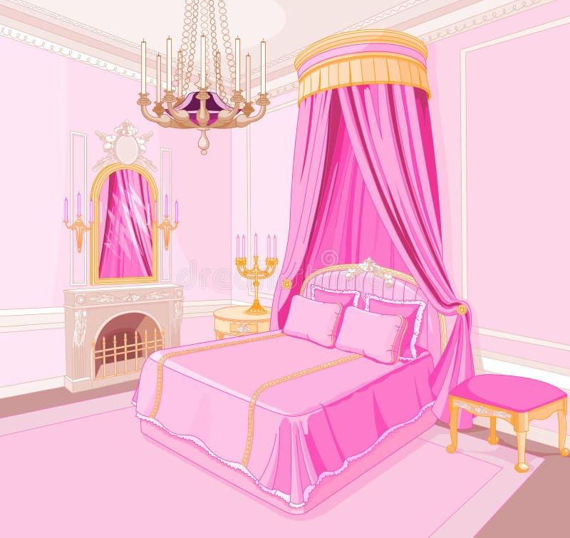 Camera da letto di principessa illustrazione di stock