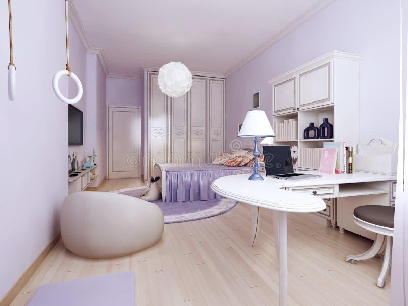 Camera da letto di stile liberty con area di lavoro - Camere da letto stile liberty ...