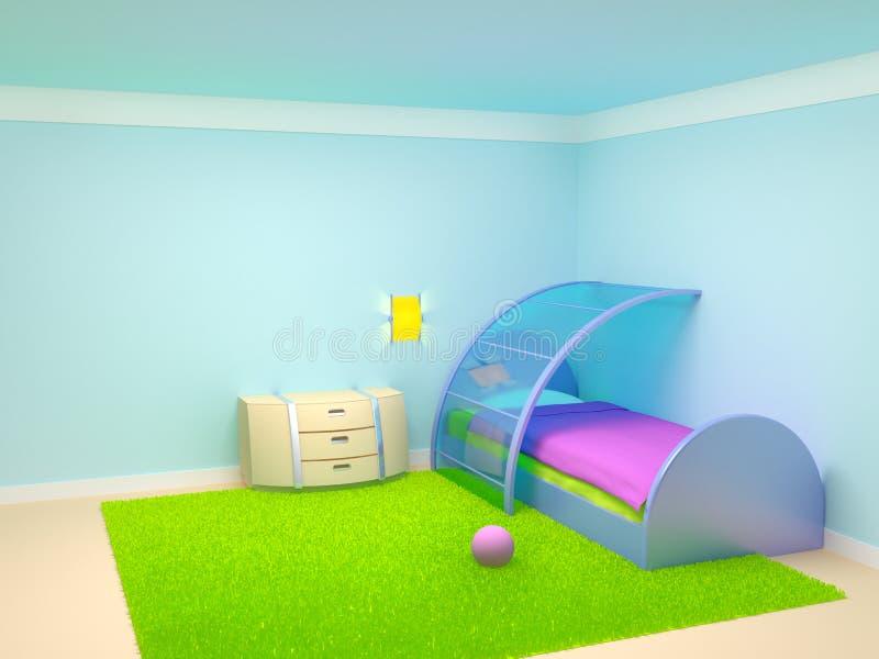 Camera da letto futuristica del bambino illustrazione vettoriale