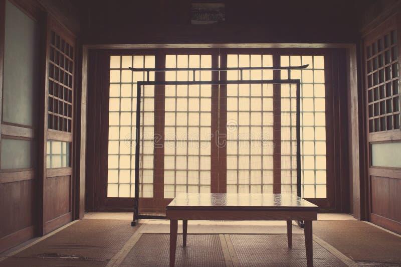 Camera da letto giapponese fotografie stock