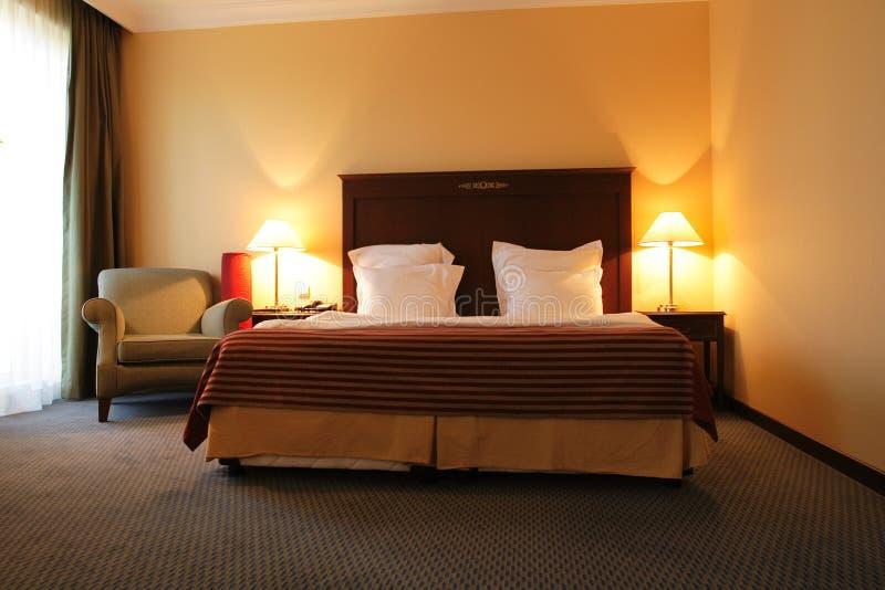 Camera da letto in hotel fotografia stock libera da diritti