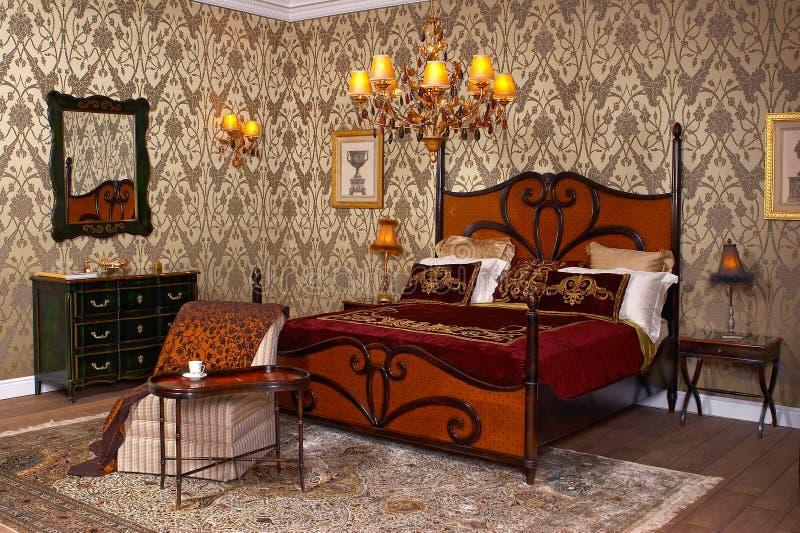 Camera da letto interna fotografia stock libera da diritti