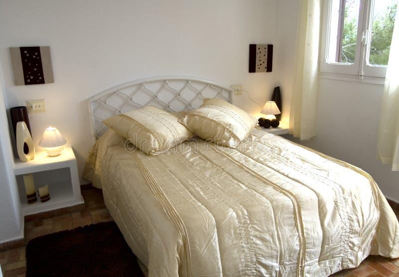 camera da letto interna fotografia stock