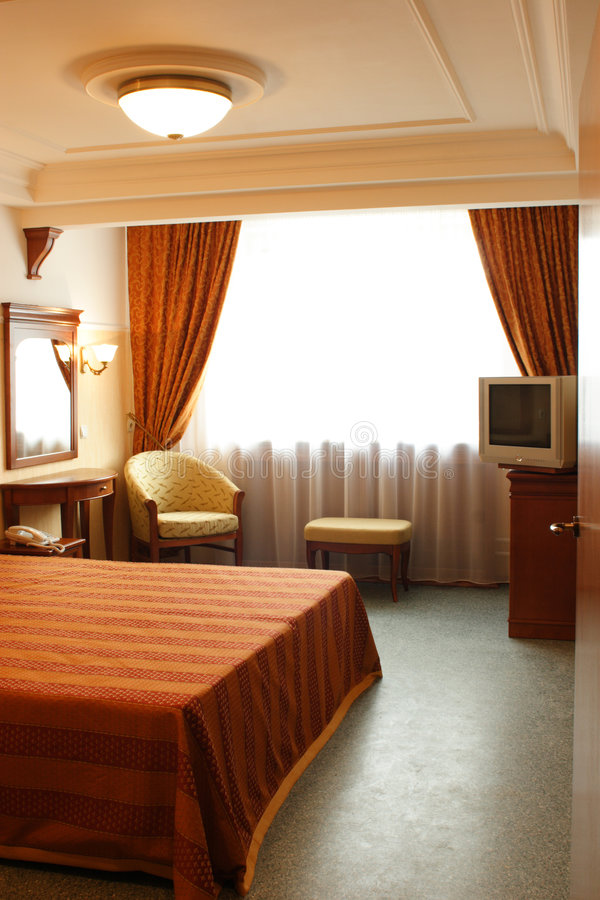 Camera da letto, interna fotografie stock