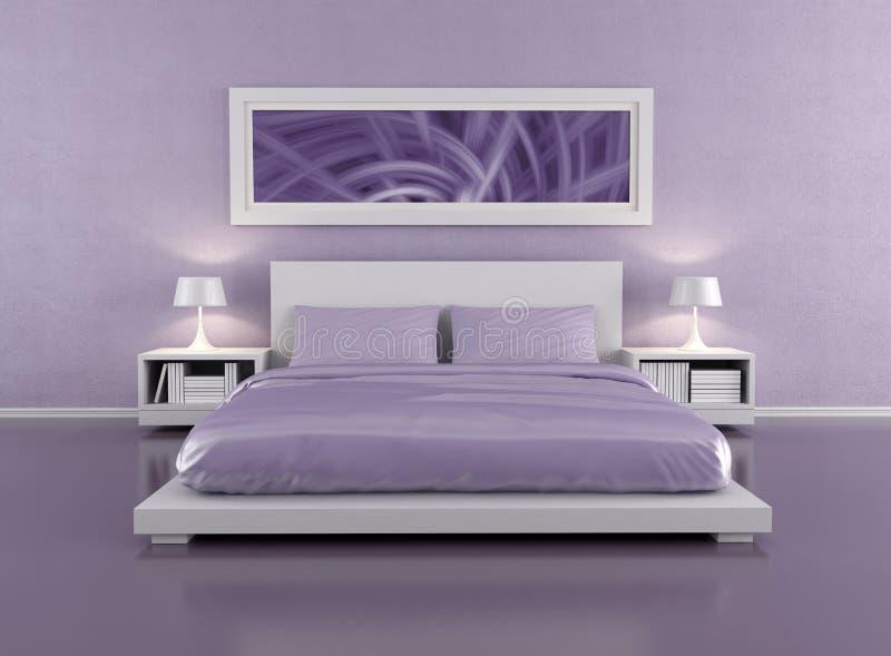Camera da letto lilla illustrazione di stock. Illustrazione di ...
