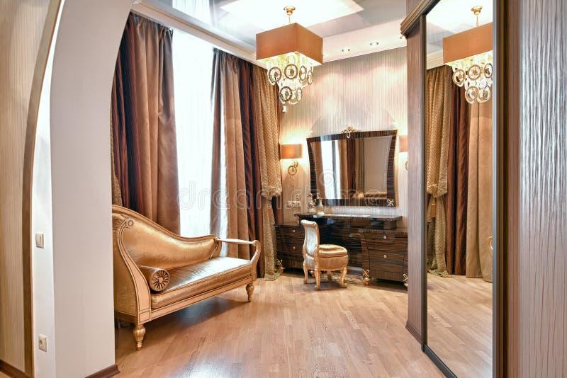 Camera da letto magnifica fotografie stock