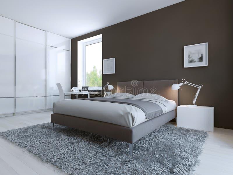 Camera da letto minimalista per buon resto illustrazione for Letto minimalista