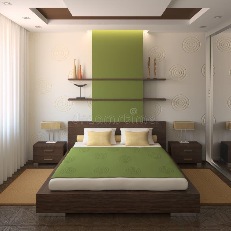 Camera da letto moderna. royalty illustrazione gratis