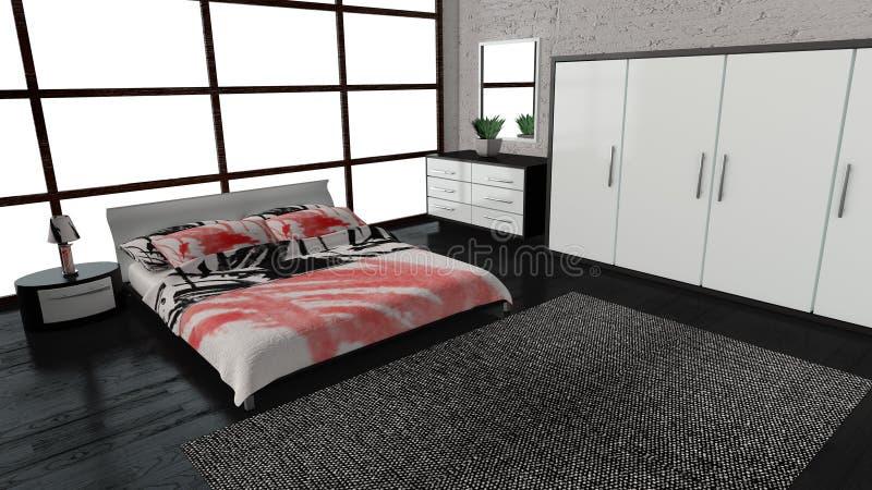 Camera da letto moderna royalty illustrazione gratis