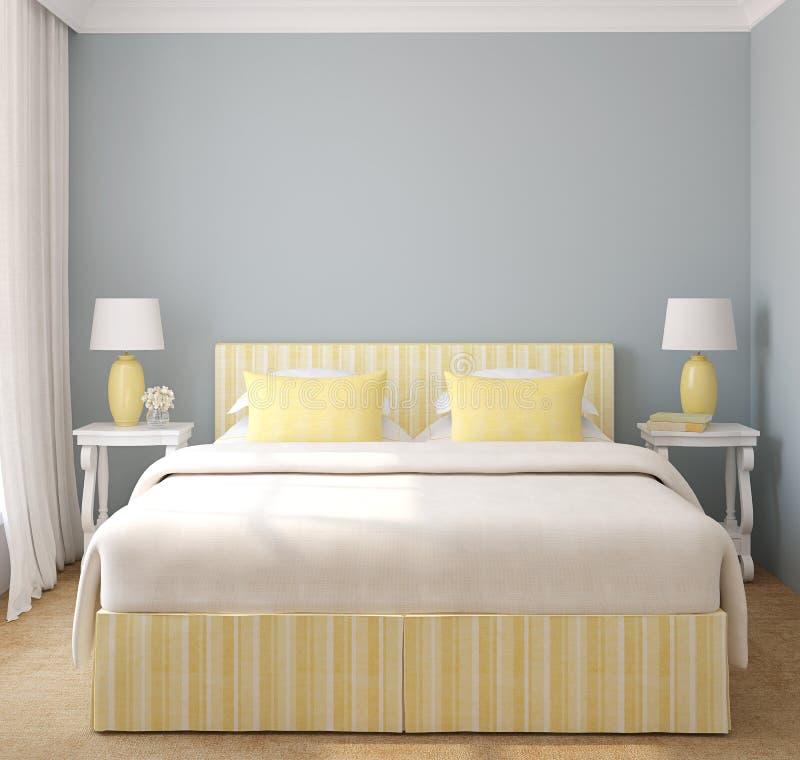 Camera da letto moderna illustrazione di stock