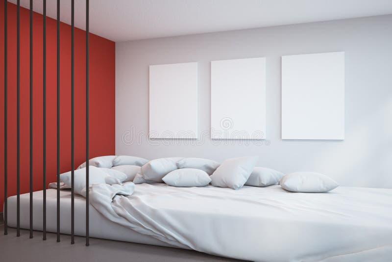 Camera da letto moderna con il manifesto royalty illustrazione gratis
