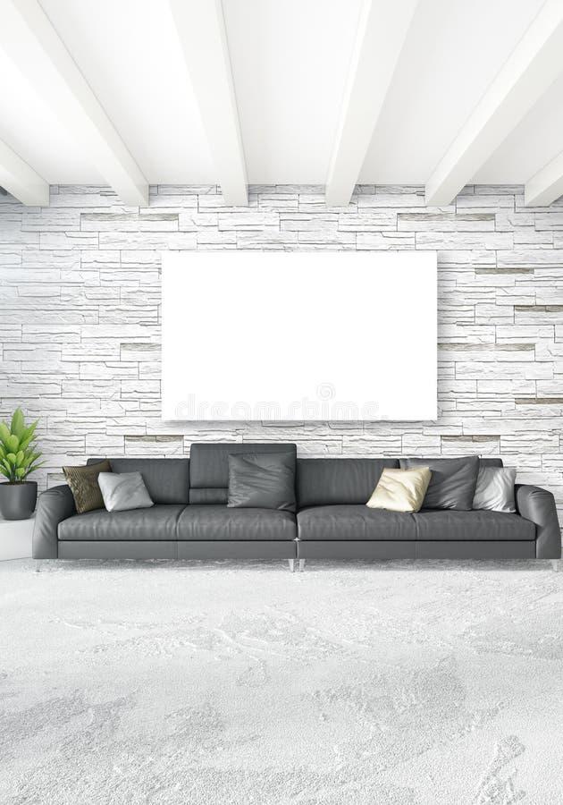 camera da letto o salone interno moderno verticale con la parete ... - Camera Da Letto O