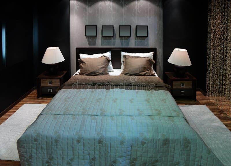 Camera da letto per le coppie fotografie stock