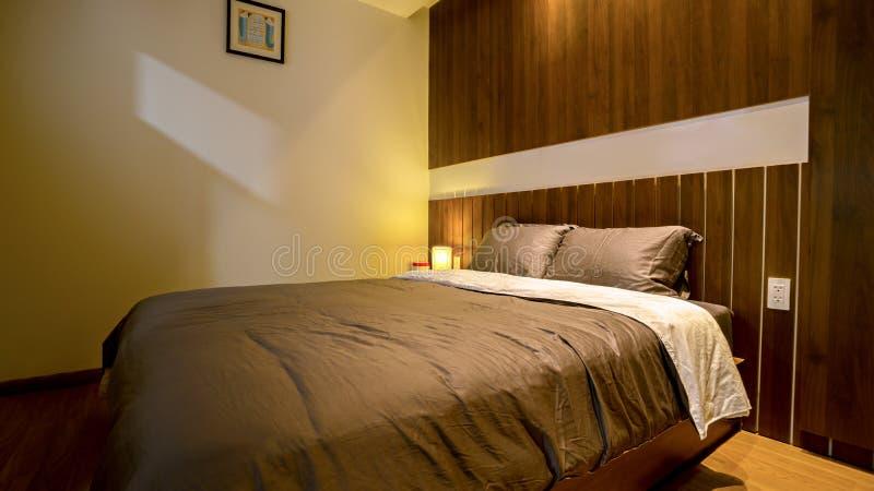 Camera da letto - progettazione domestica dell'architettura fotografia stock libera da diritti
