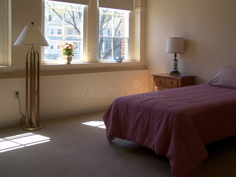 Camera da letto rossa immagini stock libere da diritti