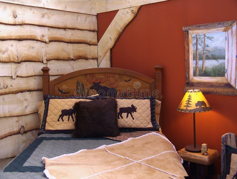 Camera da letto rustica immagine stock. Immagine di residenza - 879753