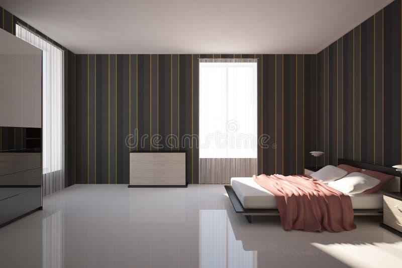 Camera da letto scura illustrazione vettoriale