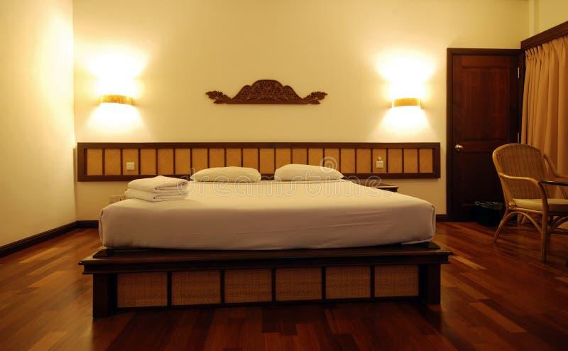 Camera da letto semplice fotografia stock libera da diritti