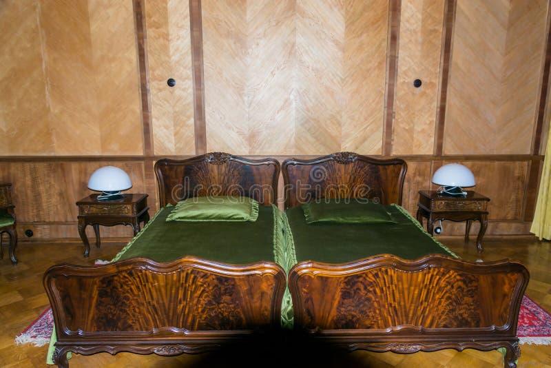 Camera da letto sull'ex paese dei capi sovietici (Stalin, KH immagine stock