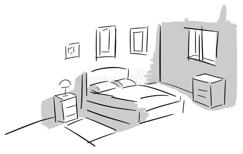 camera da letto variopinta stilizzata illustrazione