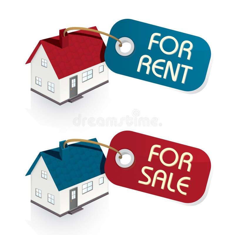 Camera da vendere e per le etichette di affitto illustrazione di stock