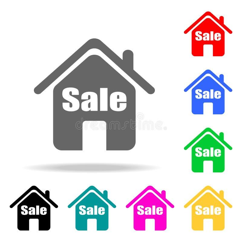 Camera da vendere l'icona Elementi del bene immobile nelle multi icone colorate Icona premio di progettazione grafica di qualità  illustrazione di stock