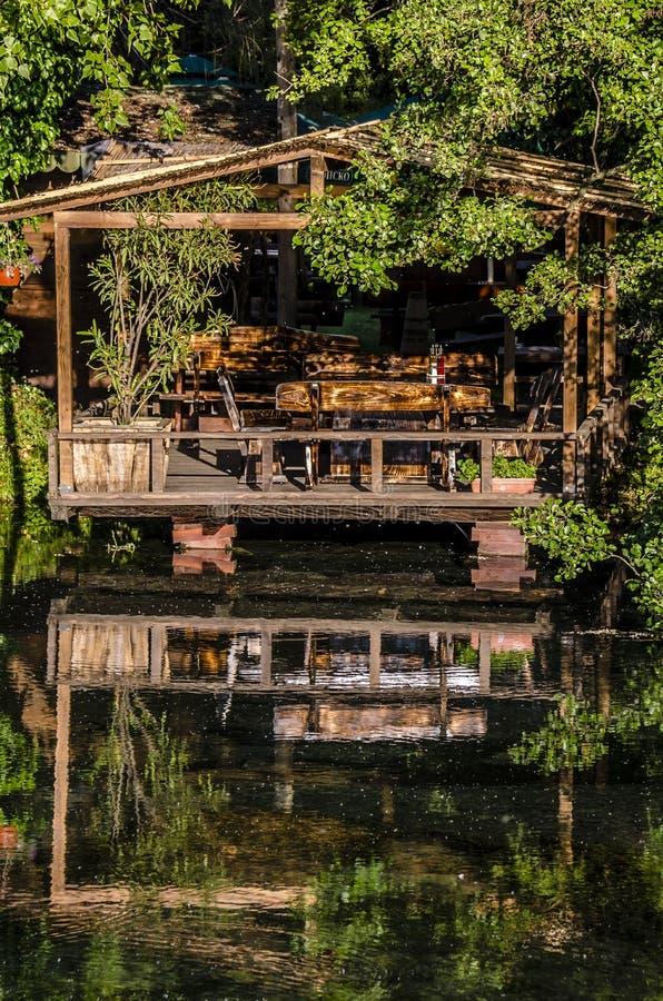Camera dal lago a Skopje fotografia stock libera da diritti