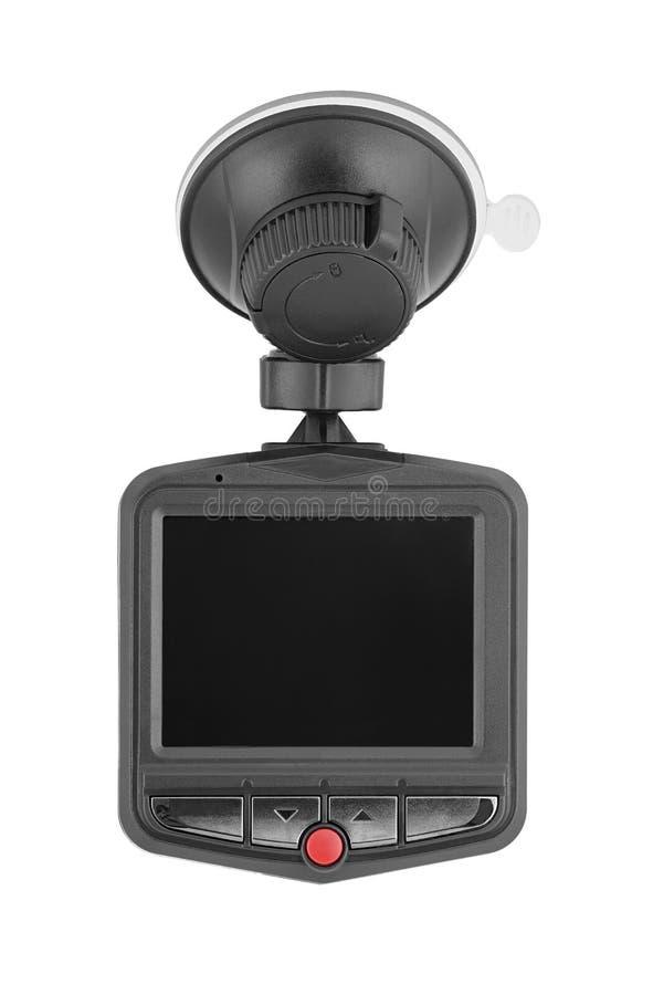 Camera in de auto die een rit te registreren door de auto wordt bewaakt stock foto's