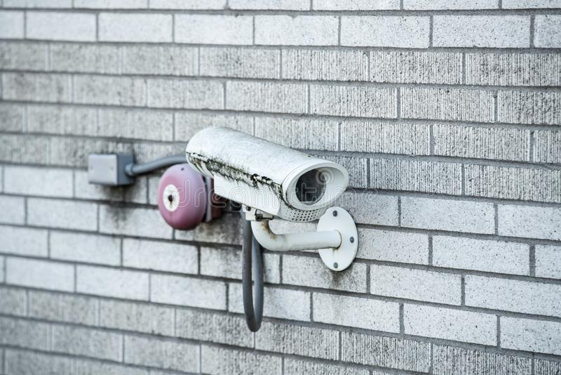Camera de met gesloten circuit van kabeltelevisie van de veiligheidstelevisie royalty-vrije stock foto's