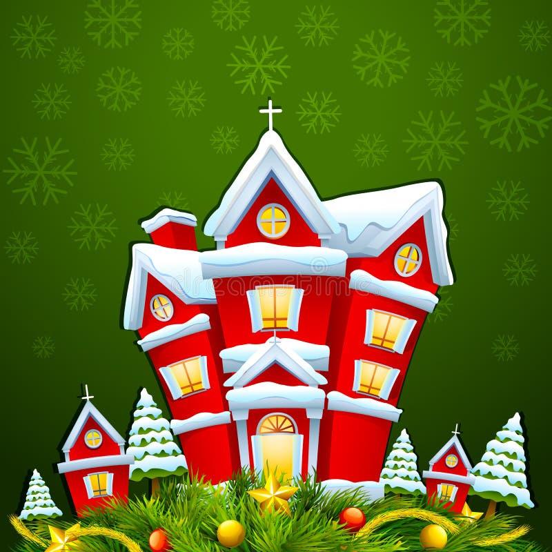 Camera decorata per Buon Natale royalty illustrazione gratis