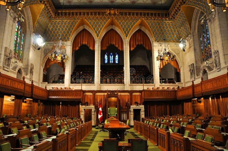 Camera dei Comuni del Parlamento, Ottawa, Canada fotografie stock libere da diritti