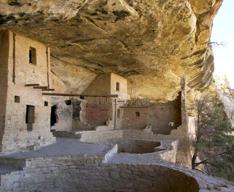 Camera del balcone in Mesa Verde National Park immagine stock