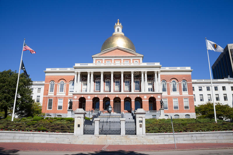 Camera del Campidoglio dello stato di Massachusetts a Boston, mA fotografie stock libere da diritti