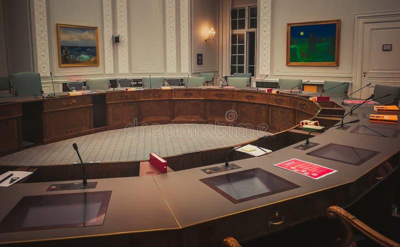 Camera del comitato europeo di affari nel Parlamento danese fotografie stock