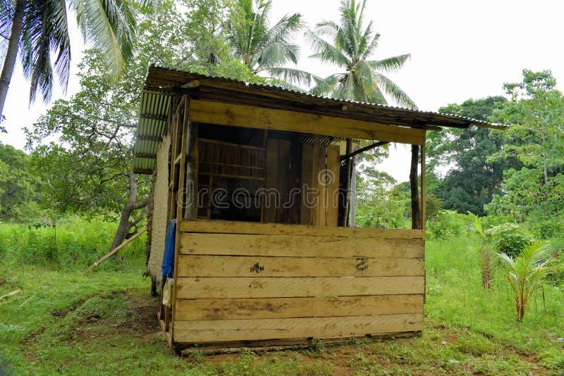 Camera del contadino filippino su un'azienda agricola della noce di cocco fotografia stock