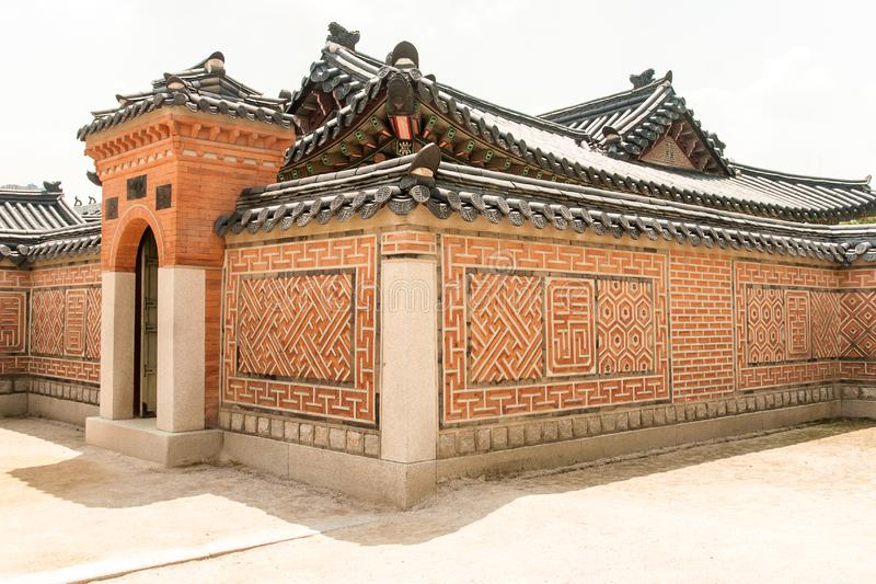 Camera del palazzo reale a Seoul fotografia stock libera da diritti