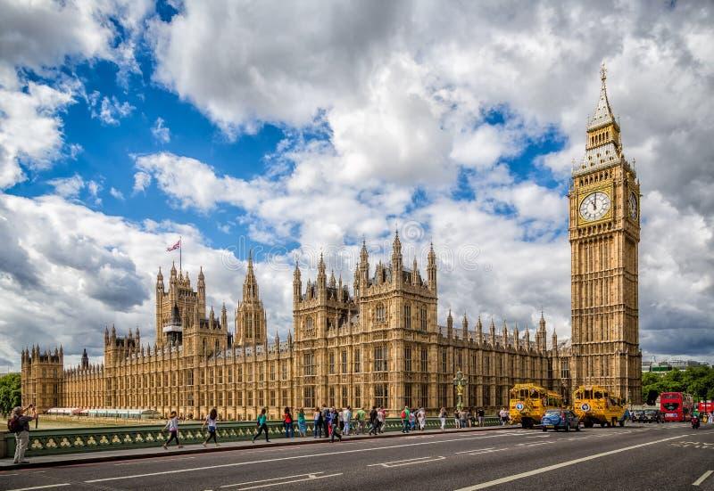 Camera del Parlamento & di grande Ben London fotografia stock libera da diritti