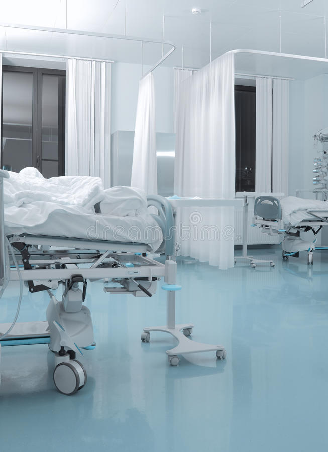 Camera del paziente contagioso in ospedale immagini stock libere da diritti