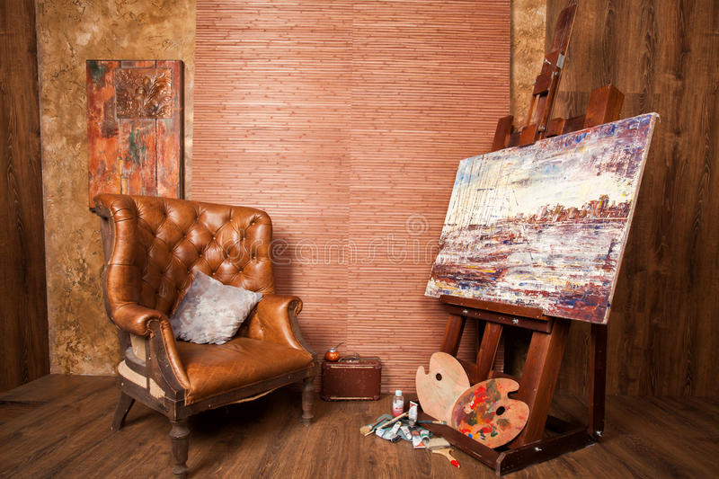 Camera del pittore fotografie stock
