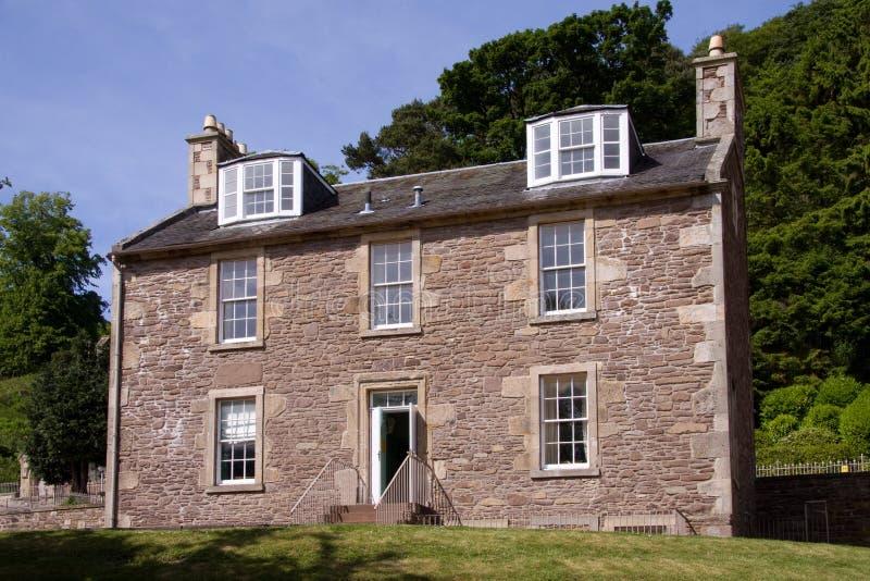 Camera del Robert Owen, nuovo Lanark fotografia stock libera da diritti