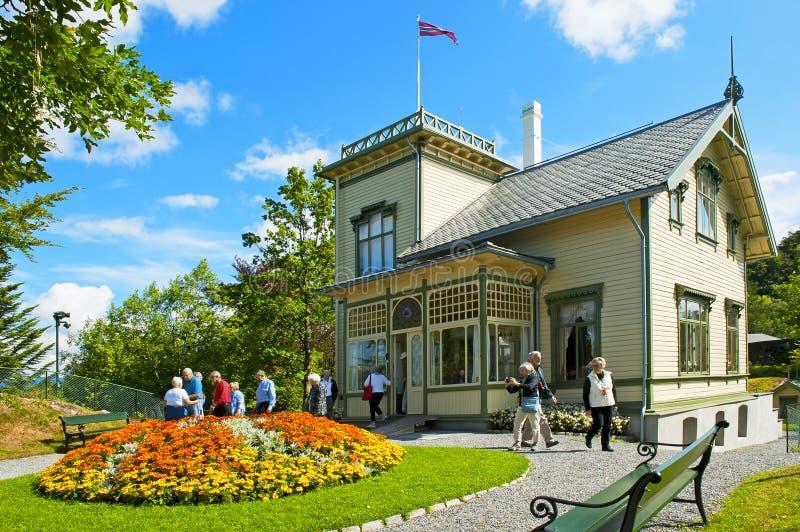Camera del Troldhaugen di Edvard Grieg a Bergen fotografie stock