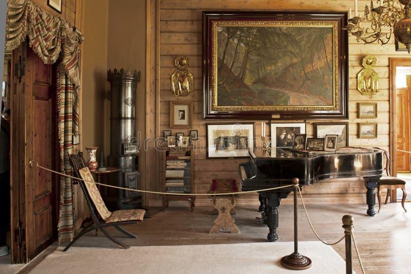 Camera del Troldhaugen di Edvard Grieg a Bergen immagini stock
