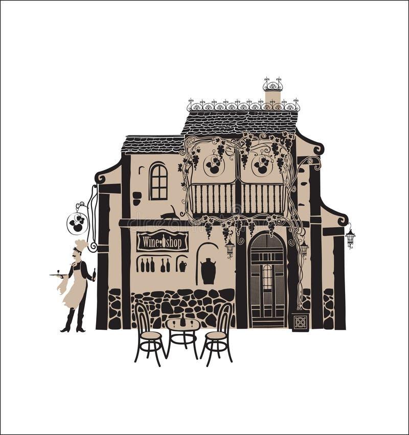 Camera del vino illustrazione di stock