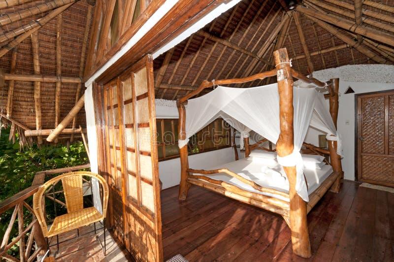 Camera di albergo romantica fotografia stock