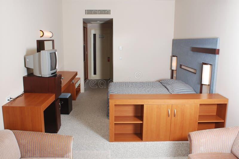 Camera di albergo vuota fotografie stock libere da diritti