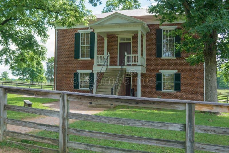 Camera di corte storica di Appomattox immagine stock libera da diritti