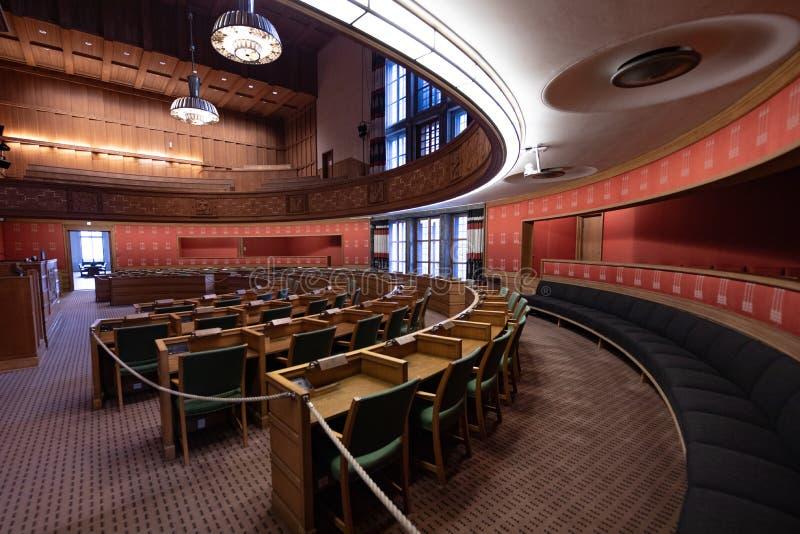 Camera di giunta comunale nel comune di Oslo, Norvegia fotografia stock libera da diritti